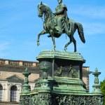 Постер, плакат: Equestrian Statue of King John of Saxony Konig Johann I von Sa