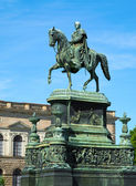 Equestrian Statue of King John of Saxony (Konig Johann I. von Sa — Stock Photo