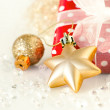 Stock Photo: Christmas decoration on abstract background
