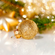 Christmas decoration on abstract background — Stock Photo #35238545