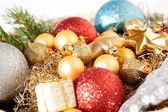 クリスマス装飾テクスチャ背景 — ストック写真
