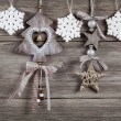 Christmas decoration on wood background, with free space for you — Stock Photo #35241089
