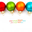 Christmas colored balls, on white background — Stock Photo