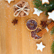 Christmas cookies with festive decoration — Stock fotografie