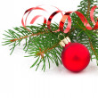 Stock Photo: Christmas decoration isolated on white background