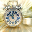 Close up on vintage clock — Stockfoto