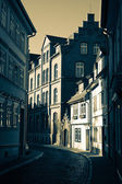 Narrow street in Erfurt, Germany — Stock Photo