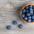 Stock Photo: Bowl of blueberries
