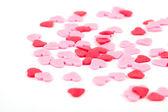 Rode harten met witte achtergrond — Stockfoto