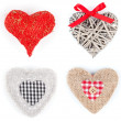 Set of heart shaped decoration, over white background — Stock Photo #39107489