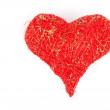 Heart made of red threads, over white background — Stock Photo #39508711