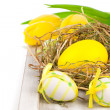 Stock Photo: Easter eggs, on a white background
