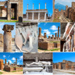 Collection of photos in Pompeii, Italy — Stock Photo