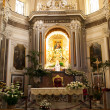 Catholic church interior in Italy. — Stock Photo