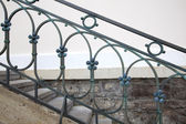 Steel handrail — Stockfoto