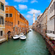 Venice cityscape, narrow water canal and traditional buildings.  — Stock Photo #43746993