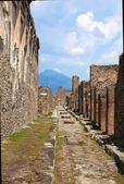 Pompeii, Italy. The ruins of the Roman city of Pompeii circa 201 — Stock Photo
