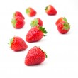 Strawberries isolated over white background — Stock Photo #46591309