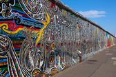 Berlin Wall, Berlin Germany.  the largest outdoor art gallery in — Stock Photo