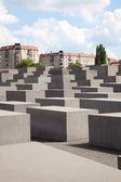 The holocaust memorial site in Berlin — Stock Photo