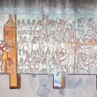 Carcassonne history wall painting — 图库照片