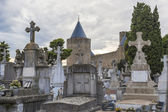 Carcassonne cemetery — Stock Photo