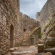 Cathar castle peyrepertuse - Stock Photo