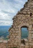 Cathar castle peyrepertuse — Stock Photo