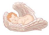 Sleeping Angel — Stock Vector