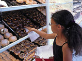 Choosing Doughnuts — Stock Photo