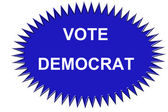 Vote Democrat Sticker — Stock Photo