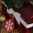 Red Christmas Box — Stock Photo