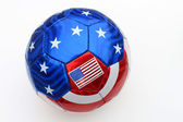 Stars and Stripes Volleyball — Stock Photo