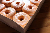 Irresistible Glazed Doughnuts — Stock Photo
