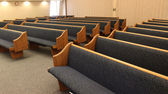 Pews in Empty Chapel — Stock Photo