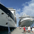 Docked Cruise ships — Stock Photo
