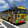 Stock Photo: Bus in Oranjestad, Aruba