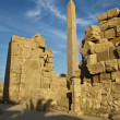 Obelisk in the temple of Karnak — Stock Photo