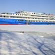 Stock Photo: Passenger steamship on winter parking