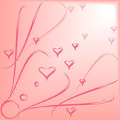Pink background with hearts — Stock Vector