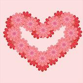 Illustration of flower heart — Stock Vector