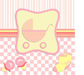 Card for newborn girl vector — Stock Vector