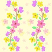 Colorful sakura seamless pattern vector — Stock Vector