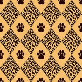Vector leopard background with traces — Stock Vector