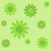 Zielone kwiaty na zielonej tekstura tło — Wektor stockowy