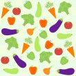Background with  different vegetables — Stock Vector
