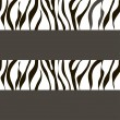 Vector zebra  background with traces — Stock Vector