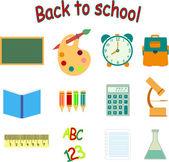 Back to school icon set — Stock Vector