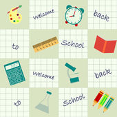 Seamless background back to school — Stock Vector