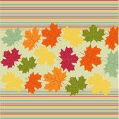 Autumn klonowe listowie tło — Wektor stockowy
